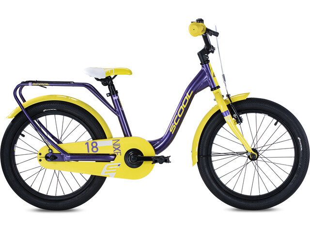 s'cool niXe alloy 18 Kinderen, purple metalic /yellow